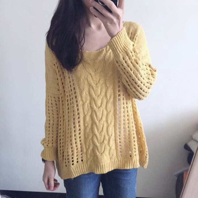 Pazzo 黃色針織上衣