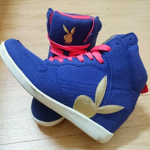 ✔️免運 PLAYBOY 藍紫色增高鞋
