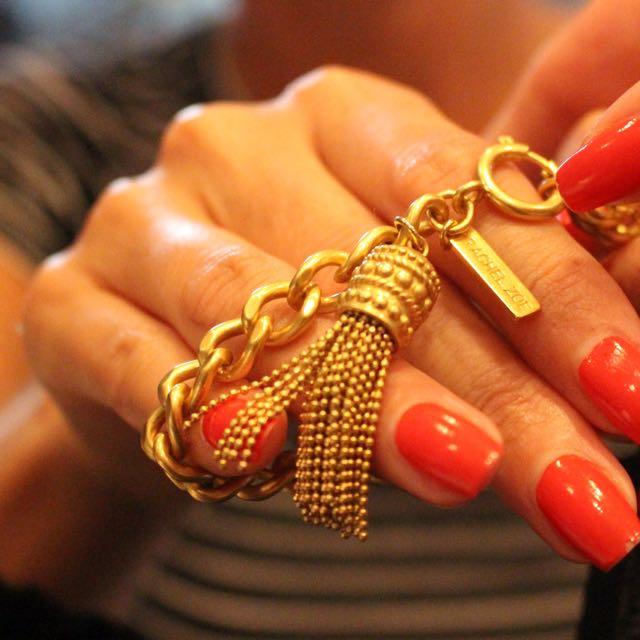 Rachel Zoe Tassel Bracelet, Gold