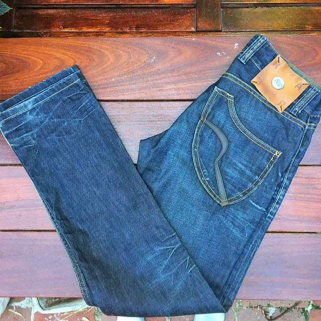 RA-RE (RARE) Waxed Vintage Dark Navy Denim Jeans