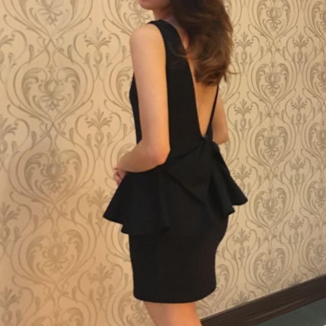Ribbon Backless Dress