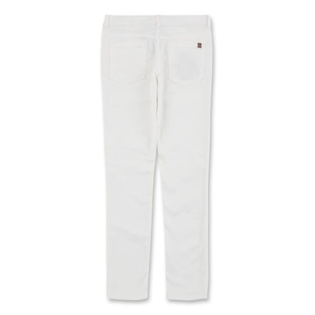 Roots 白色丹寧直筒褲