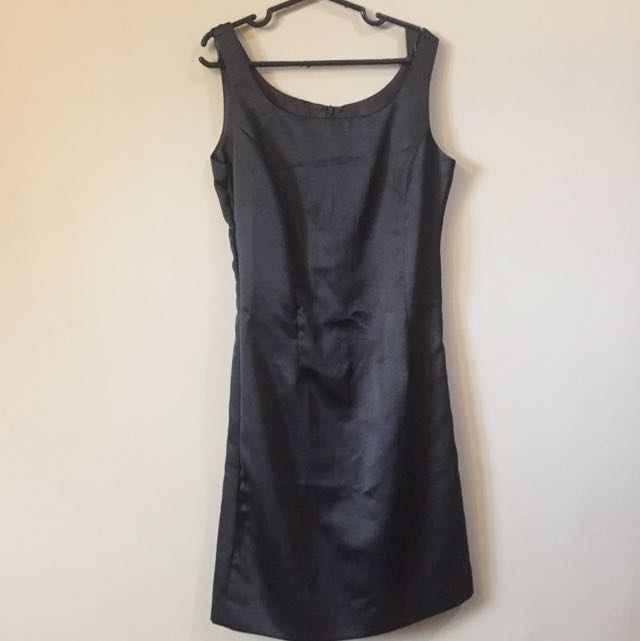 Satin Black Formal Dress