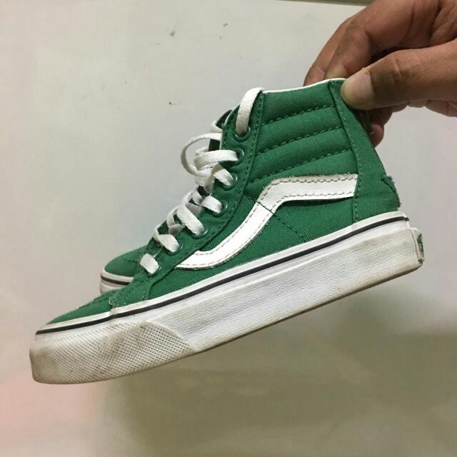 a22abd4121 Sepatu Anak Vans Sk8hi Zipper Kids Size US 11
