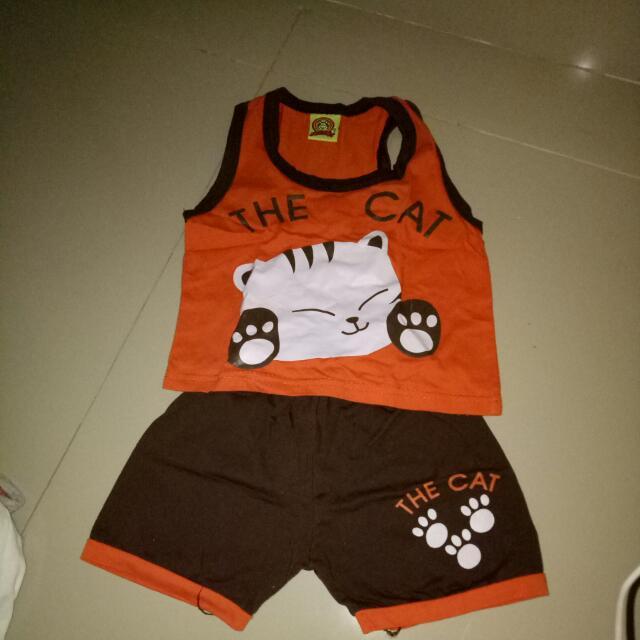 Shirt & Short Untuk Bayi 3-6 Bln