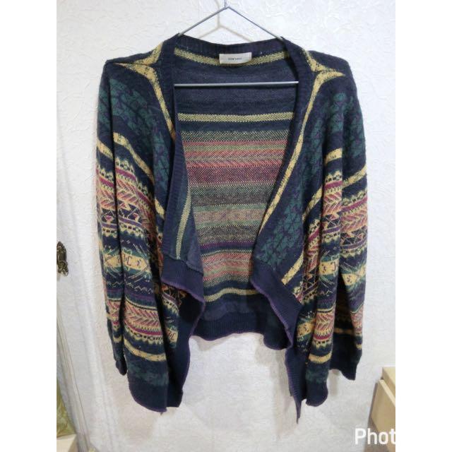 Star Mimi幾何風格軟針織開襟罩衫