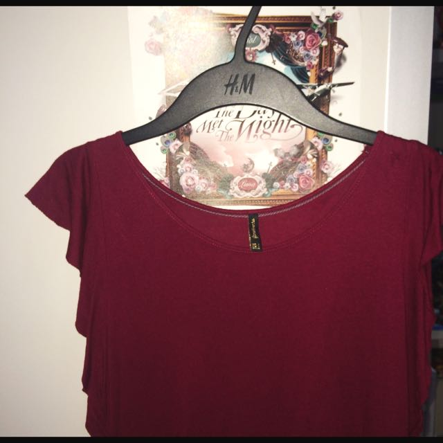 Stradivarius Stylish Red T-shirt