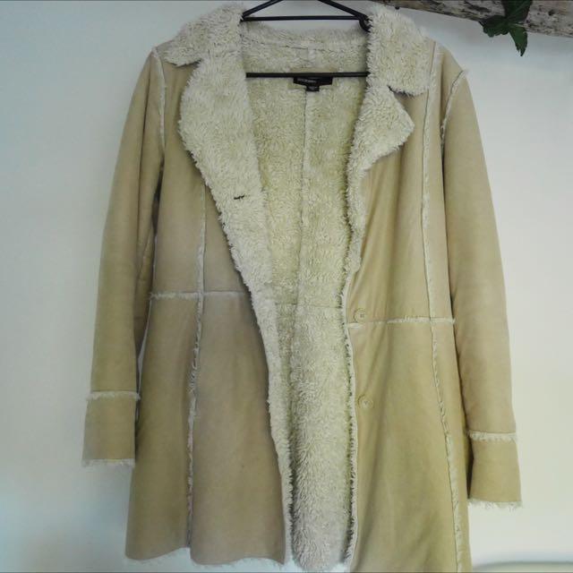 Vintage Sherpa Coat Jacket Lined