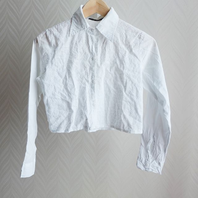 White Crop Shirt