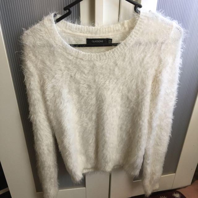White Fluffy Sweater