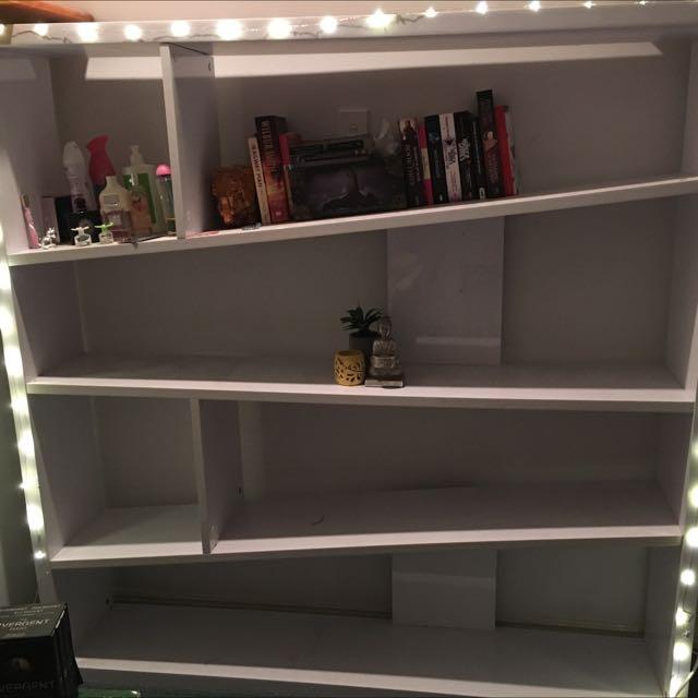 White Glossy Bookcase