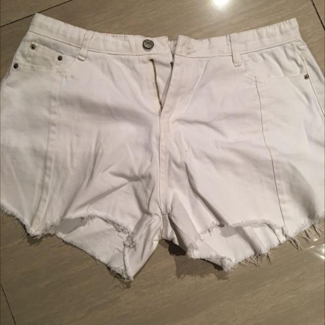 White Sexy Short