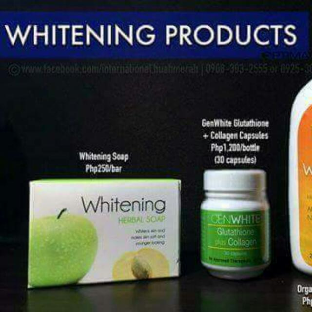 Whitening Organic Products