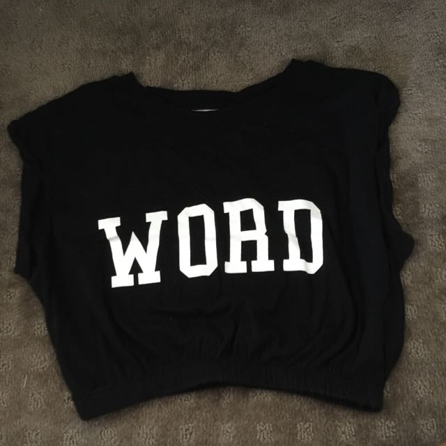 Word T Shirt Cropped