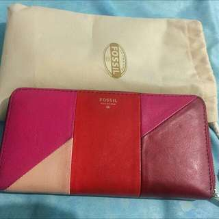 Preloved Dompet FOSSIL RED MULTI