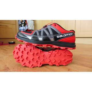 🚚 法國 索羅門 Salomon Men's Fell Raiser Trail Running Shoe 登山 越野鞋 黑/紅