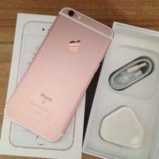 IPHONE 6S 16GB/64GB GOLD / ROSEGOLD MULUS FULLSET LIKENEW ORIGINAL 100% GARANSI