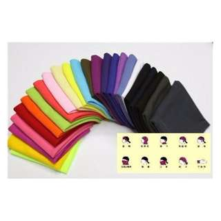 超柔軟 百搭 純色 素色 多功能無縫 魔術頭巾 每條$49 共24色