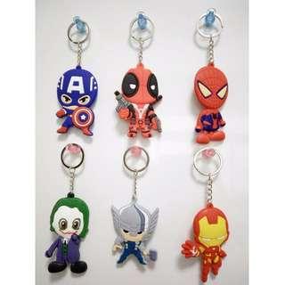 🚚 Marvel 漫威 復仇者聯盟 鋼鐵人 雷神索爾 美國隊長 死侍 蜘蛛人 DC 華納 小丑 鑰匙圈 吊飾 鑰匙扣