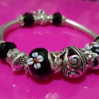 PANDORA INSPIRED Bracelet with Murano Beads