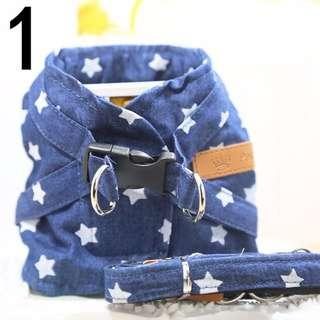 DP雜貨鋪 寵物遛狗神器 造型胸背牽引繩套裝 貓狗用品