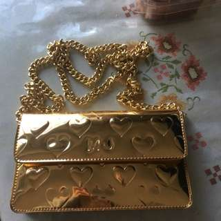 MARC JACOBS gold heart mirror bag Purse