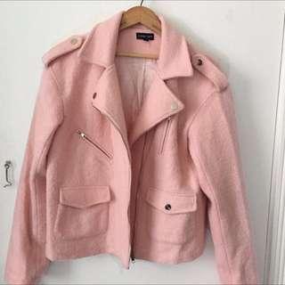 Sister Jane Pink Boucle Moto Jacket