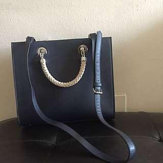 Zara Navy Blue Shoulder Bag