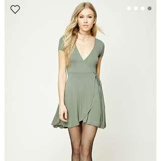 Forever 21 Wrap Dress - Olive