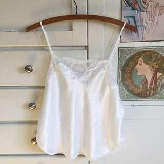 White Silk Camesole