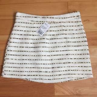 F21 White Short Skirt