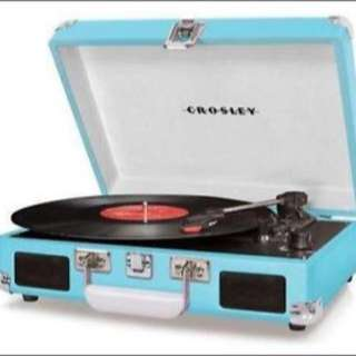 Brand new Blue Crosley Record Player