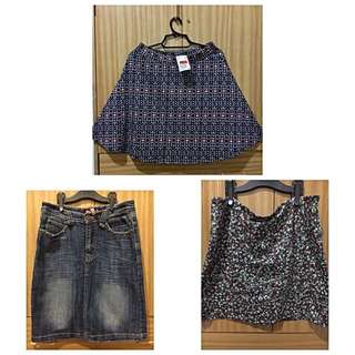 3 Skirts For P 350