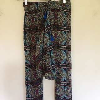 Seed Tribal Pattern Harlem Pants - Size 8 (Can fit Up To A Size 12)