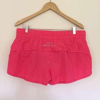 Lorna Jane Neon Orange Shorts - Size Large