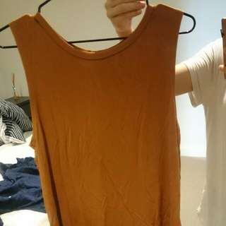 Burnt orange muscle tank top size S