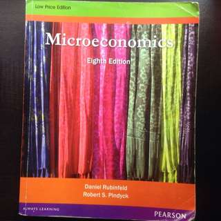 Microeconomics (Rubinfeld & Pindyck, 8th Edition)