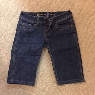 Knee Length Jean Shorts