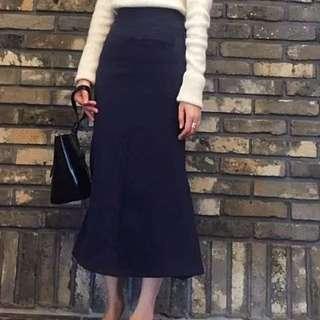 高腰半身魚尾裙