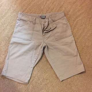 Light Brown Knee Length Shorts