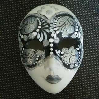 Hand painted Venetian Mask Ceramic Trinket Box