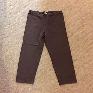 Brown Capri Leggings
