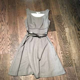 Grey Dress With Bow Belf