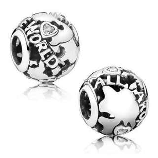 Pandora All Around The World Silver Charm New