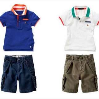 GAP Boy Collar Tee & Short Pant