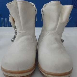 BABY GIRL LEATHER BOOTS