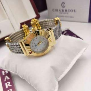 NEW ARRIVAL  CHARRIOL REPLICA STAINLESS WATCH  WITH COMPLETE PAKAGING-BOX,PAPERBAG.MANNUEL AND TAG 1, 800