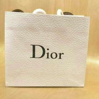 正品Dior迪奧專櫃質感壓紋紙袋(小.中.大)