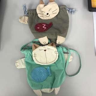 貓貓小袋子 Cat Small Bag 布袋