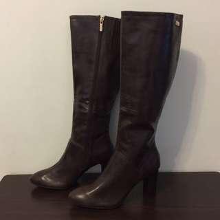 全新Centro咖啡色高跟皮靴 (size:40)